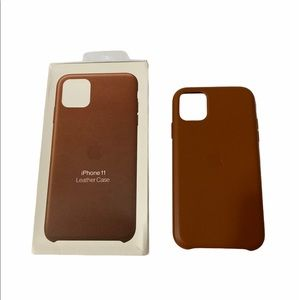 Saddle Brown Leather iPhone 11 case